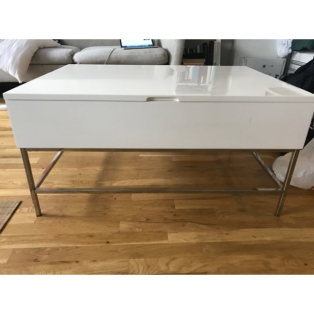 West Elm Storage Coffee Table - Image 5 of 7