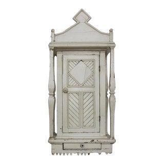 Folk Art Wall Cabinet For Sale