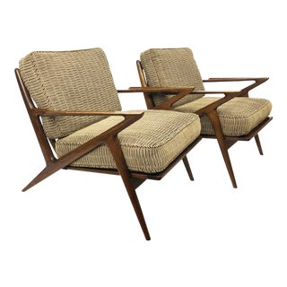 Vintage Z Chairs by Poul Jensen for Selig - a Pair For Sale
