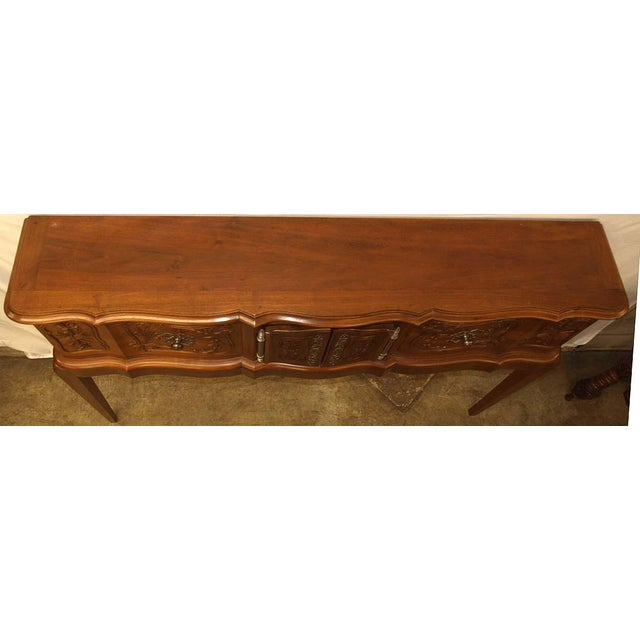 Brown Carved Walnut French Console For Sale - Image 8 of 10