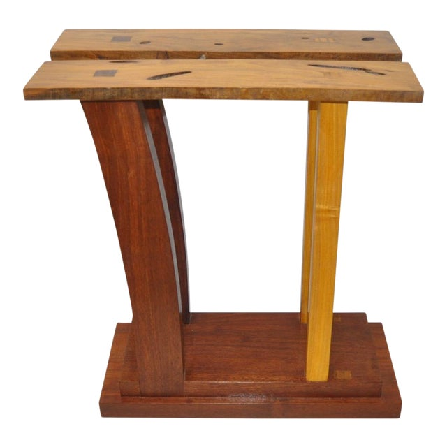 Dia Ates Hardwood Pedestal For Sale