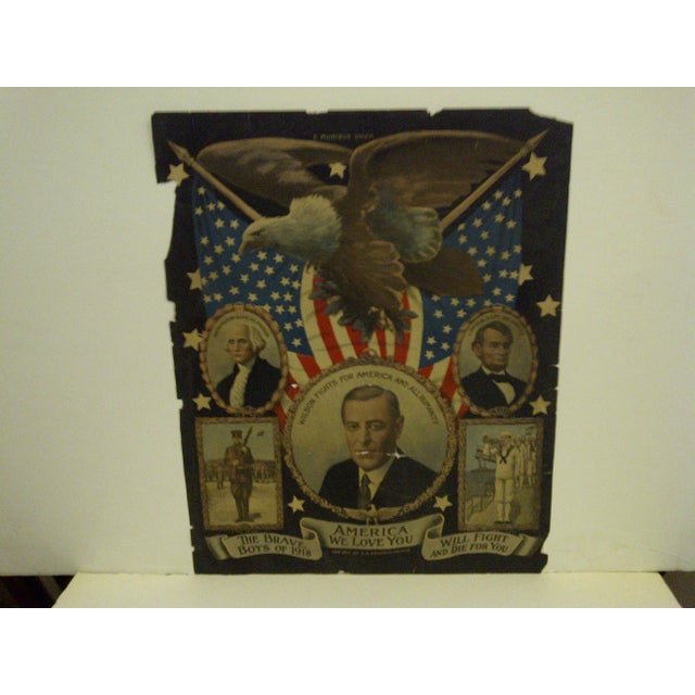 Victorian Vintage WWI Presidential Campaign Poster For Sale - Image 3 of 8