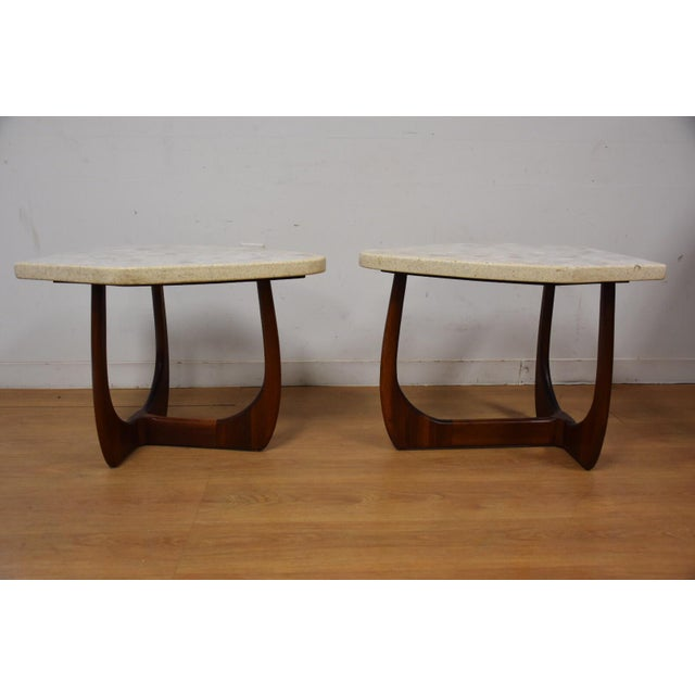 Stone Harvey Probber Terrazzo End Tables - A Pair For Sale - Image 7 of 11