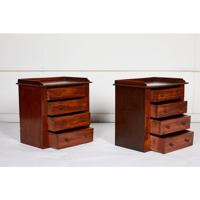 Pair of Petite English Mahogany Chests For Sale In Atlanta - Image 6 of 10