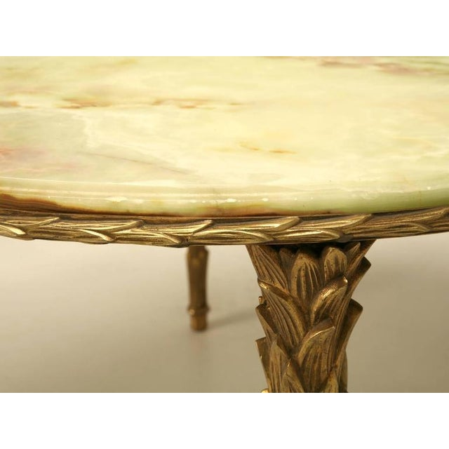 Art Deco Maison Bagues Bronze Coffee Table With Onyx Top For Sale - Image 3 of 10