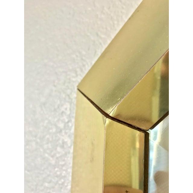 Springer Style Brass Beveled Glass Mirror - Image 8 of 9