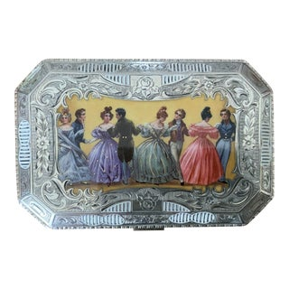 19th Century Sterling Silver and Enamel Calling Card Case For Sale