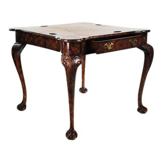 Reproduction Victorian Flip Top Gaming Table