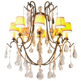 Provincial Style Gilt & Iron Eight-Arm Chandelier