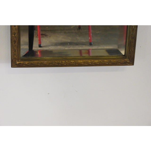 1950s French Brass Classical Small Trumeau Mirror For Sale - Image 9 of 11