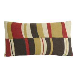 Mid-Century Modern Colorful Bolster Vintage Decorative Pillow For Sale