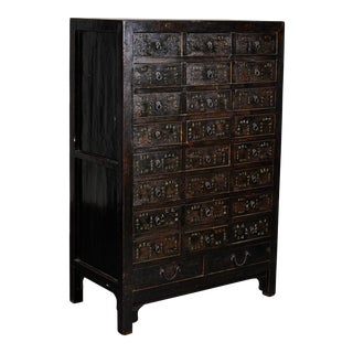 19th Century Chinese Apothecary Cabinet With Drawers For Sale