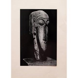 1958 Amedeo Modigliani, Photogravure of Stone Head For Sale