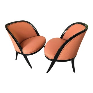 Pair of Elegant Harvey Probber Slipper Chairs