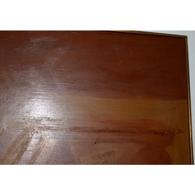 Vintage Mid Modern Abstract Oil Painting C.1970 For Sale - Image 4 of 8