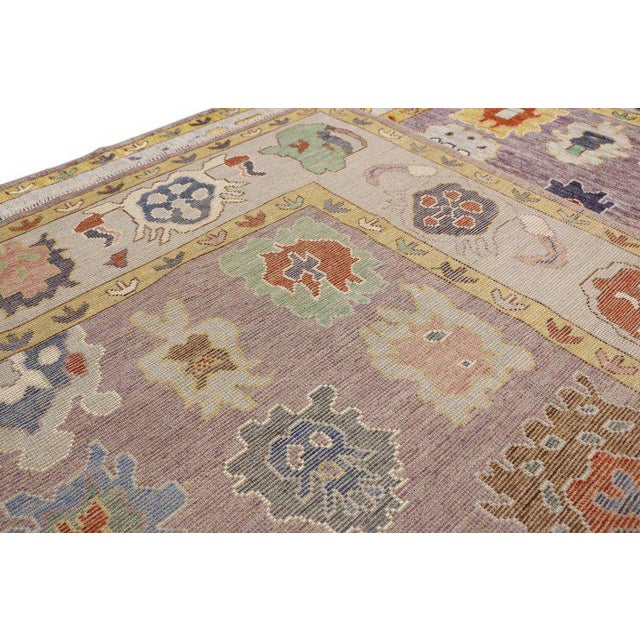 Contemporary Oushak Style Rug - 8′10″ × 12′2″ For Sale In Dallas - Image 6 of 8