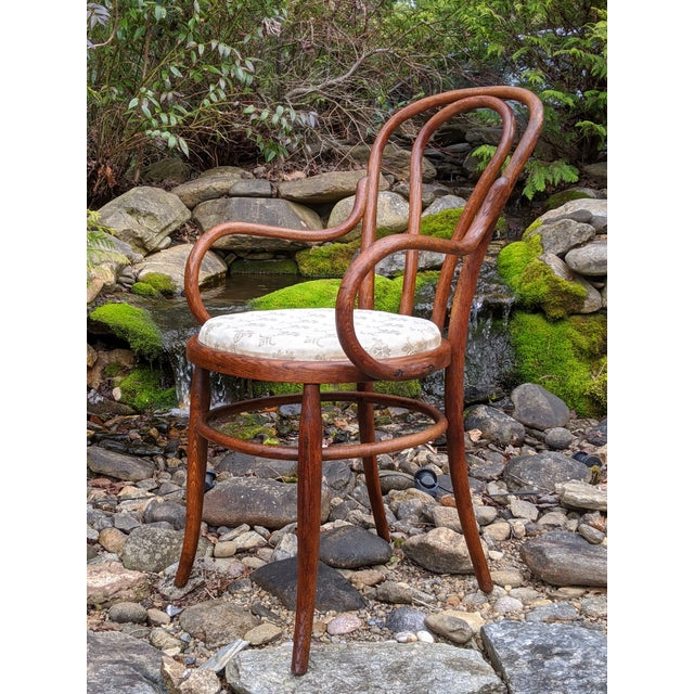 Antique Signed/Marked Michael Thonet Bentwood Beech Bistro Captains Chair For Sale - Image 13 of 13