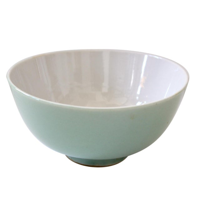 An early 1900's celadon Chinese bowl, set of 3. Excellent for its age.