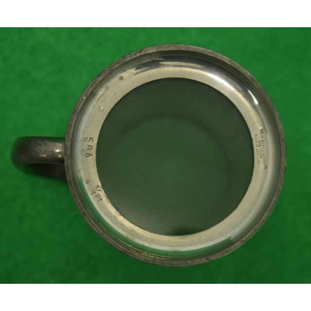 Set of 5 Abercrombie & Fitch Pewter English Tankards Engraved w.a.r. For Sale In New York - Image 6 of 10