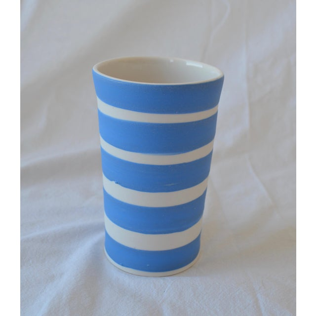 Clay Contemporary Ceramic Striped Cylindrical Vessels - Group of 6 For Sale - Image 7 of 11