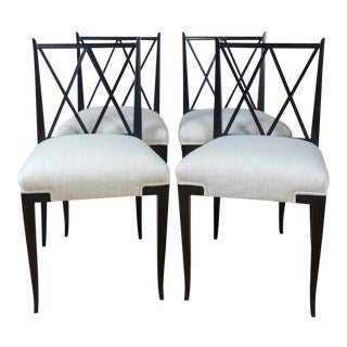 Tommi Parzinger Double 'X' Back Chairs - Set of 4 For Sale