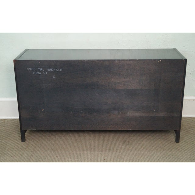 Tung Si Collection Ebonized Black & Teak Dresser For Sale - Image 4 of 10