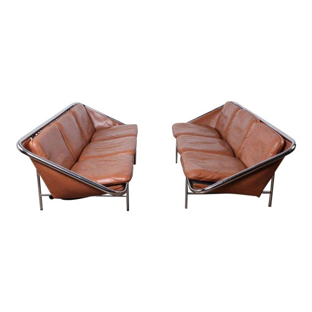 Pair of Sling Sofas by George Nelson For Sale