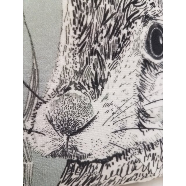 English Rabbit Hare Pillow - Made in Wales, United Kingdom For Sale - Image 3 of 11