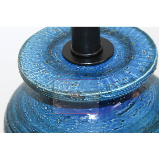 Bitossi for Raymor Blue Pottery Lamp - Image 8 of 9