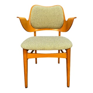 Vintage Danish Mid Century Modern Accent Accent Chair by Hans Olsen for Bramin Mobler For Sale