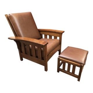 New Mission Morris Chair & Ottoman