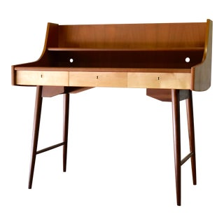 "Mid Century Modern ""Ola"" Teak Desk by John Texmon For Sale"