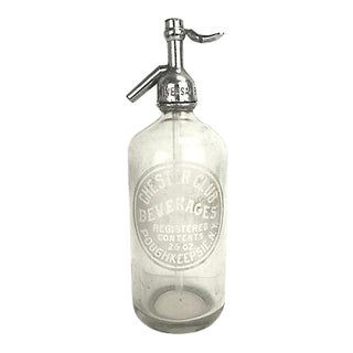 Antique New York Seltzer Bottle For Sale