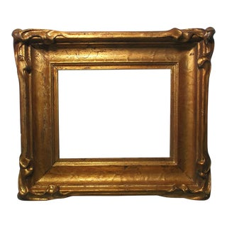 bbda77981101 19th Century Early Art Nouveau Gilt Wood & Gesso Hand Made Frame