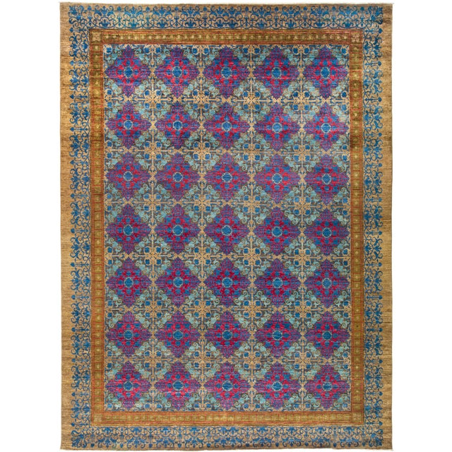 """Suzani Hand Knotted Area Rug - 12' 3"""" X 16' 3"""" - Image 4 of 4"""