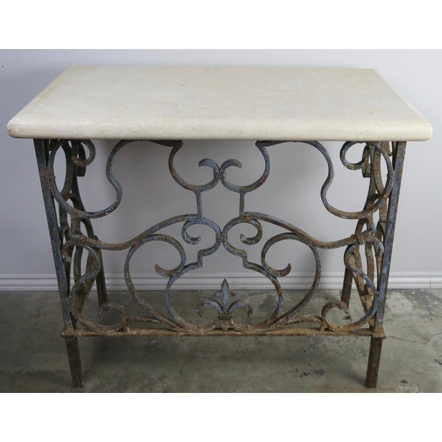 19th C. French Wrought Iron Console For Sale - Image 12 of 12