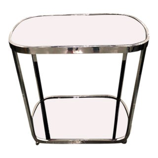 Modern Chrome Bar Cart For Sale