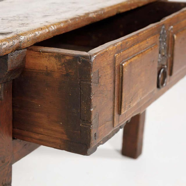 Brown 18th Century Solid Walnut Spanish Side Table For Sale - Image 8 of 13