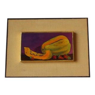 1940s Vintage Still Life Fruit Oil Painting For Sale