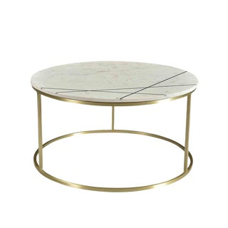 Ashbury Round Marble Coffee Table For Sale