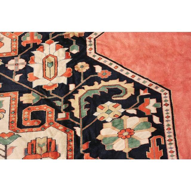 Fiber Large Vintage Persian Silk Heriz Rug - 13′1″ × 19′ For Sale - Image 7 of 11