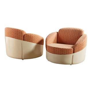 "Pair of Joe Colombo ""Astrea"" Lounge Chairs for Stendig For Sale"
