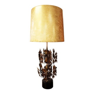 Vintage Mid Century Modern Harry Balmer Brutalist Table Lamp For Sale