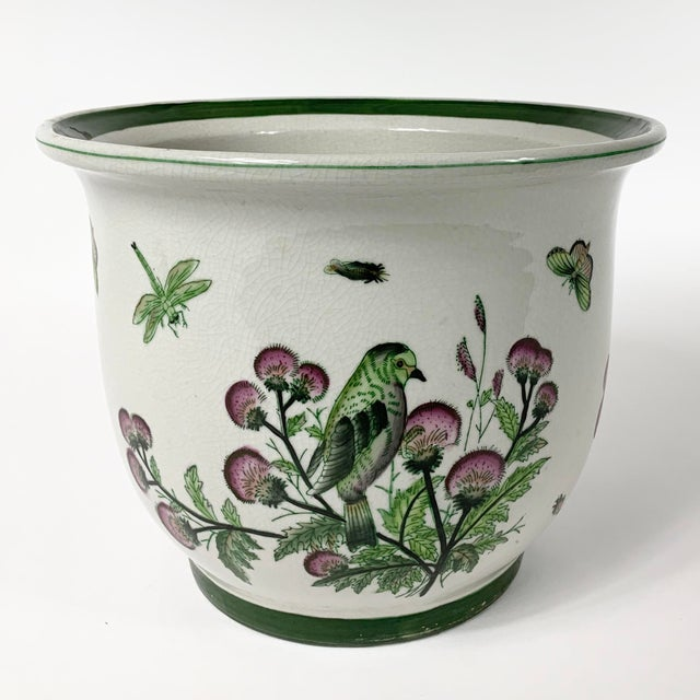 Ceramic Late 20th Century Ceramic Floral Planter For Sale - Image 7 of 7