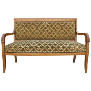 Early 19th Century Antique French Charles X Style Settee For Sale