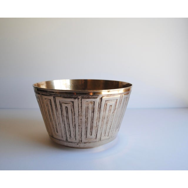 Vintage Etched Brass Bowl - Image 2 of 3