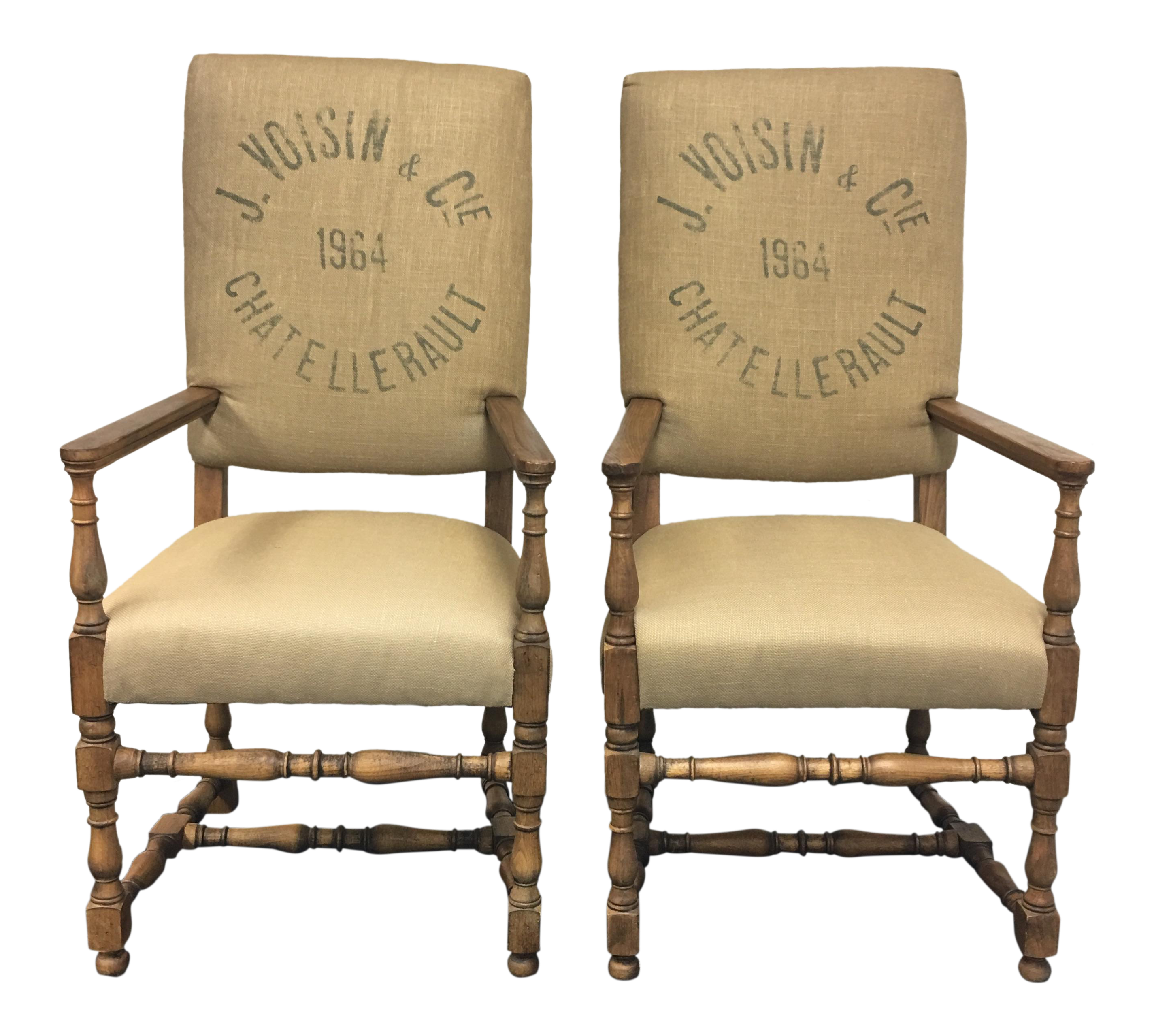 Superieur Restoration Hardware English Baroque Printed Chairs  A Pair