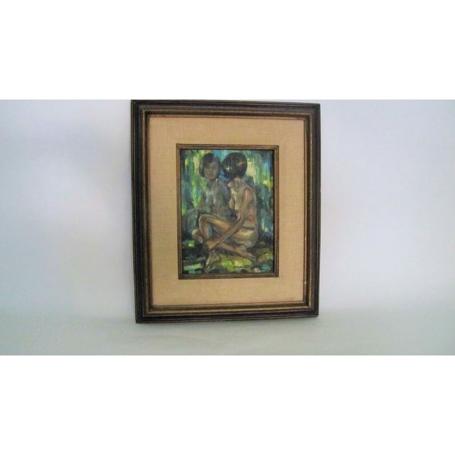 "1960s ""Reflections of a Nude"" Oil Painting - Image 3 of 4"