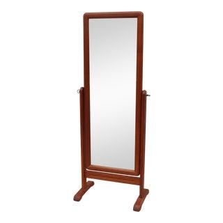 1960's Danish Teak Full Lenght Mirror