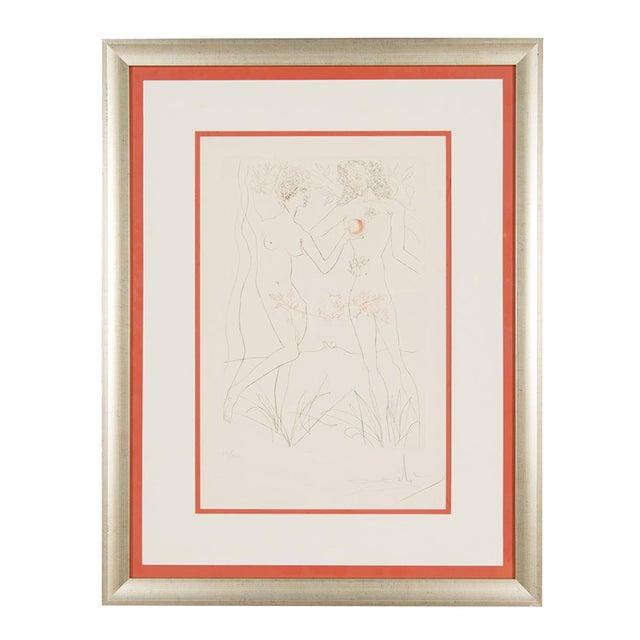 """Salvador Dali """"Adam & Eve"""" Signed Lithograph - Image 2 of 10"""